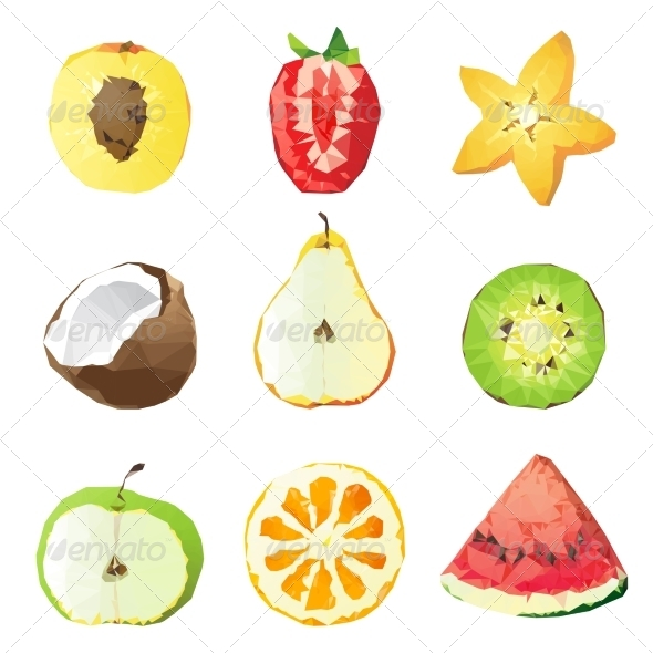 GraphicRiver Fruit Pieces 8399142