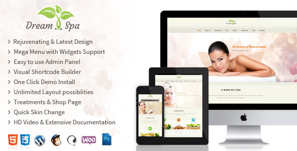 ThemeForest DreamSpa Responsive Beauty Salon WordPress Theme 8324159