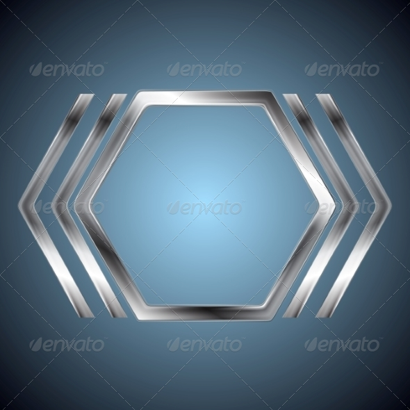 GraphicRiver Abstract Metallic Hexagon Shape 8399205