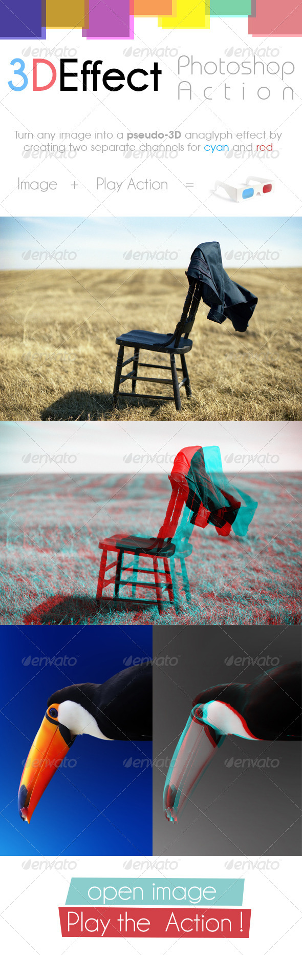 GraphicRiver 3D Anaglyph Effect Photoshop Action 8331962