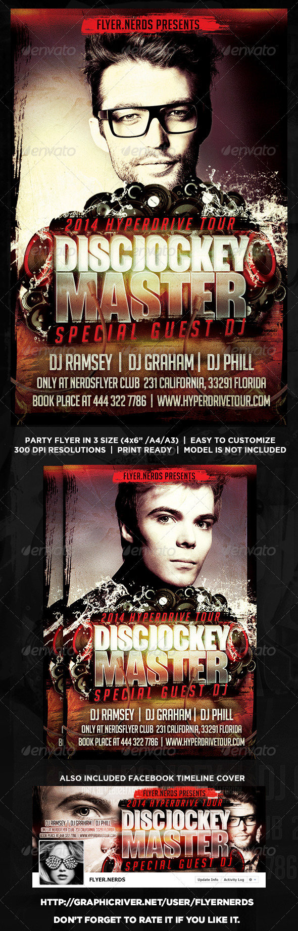 GraphicRiver DiscJockey Master 2014 Party Flyer 8399472
