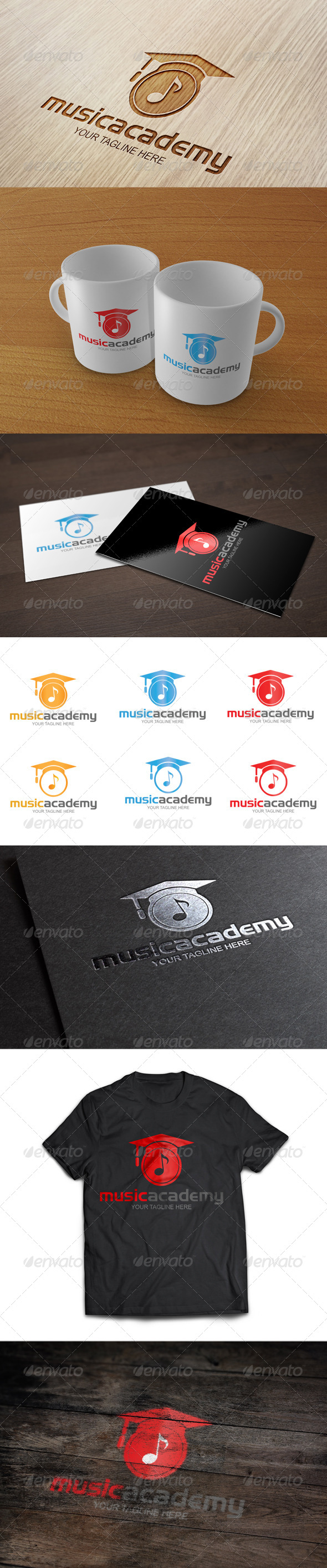 Music Academy Logo Template