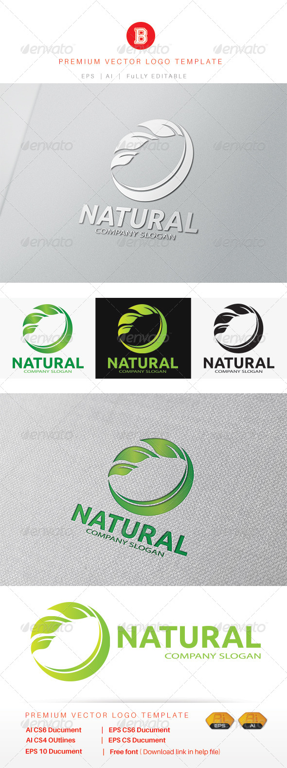 GraphicRiver Natural Logo 8402961