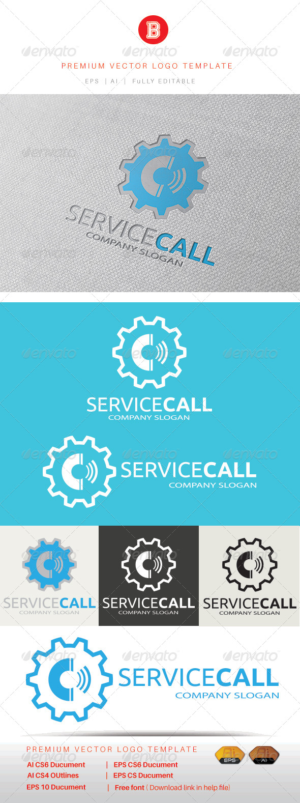 GraphicRiver Service Call 8403431