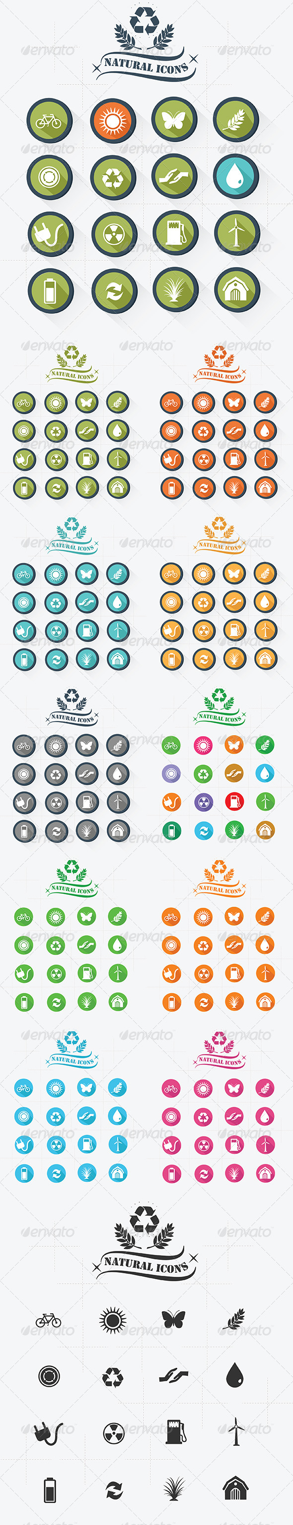 GraphicRiver Natural Icons 8403531