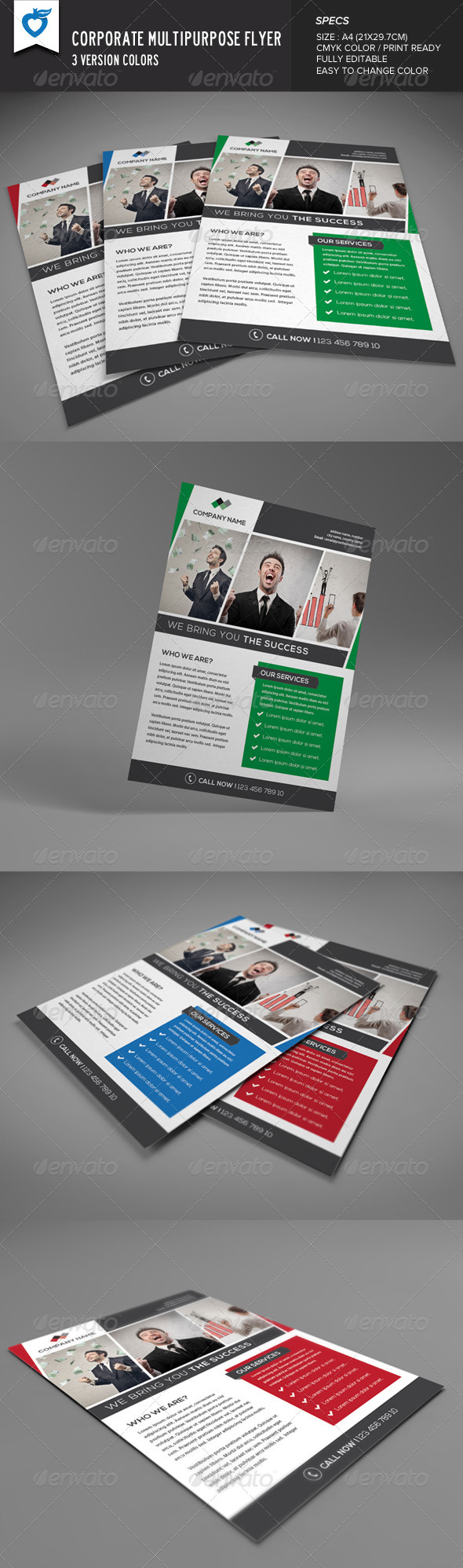 GraphicRiver Corporate Multipurpose Flyer 8405011