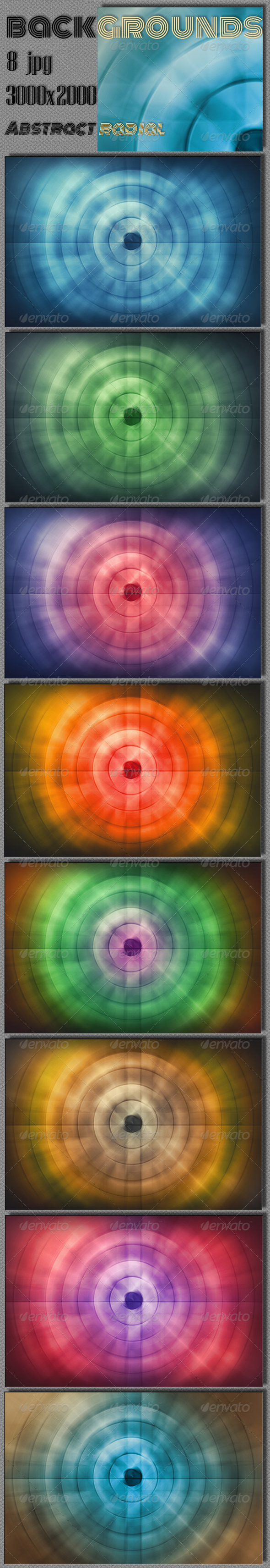 GraphicRiver Abstract Radial Techno 8405027