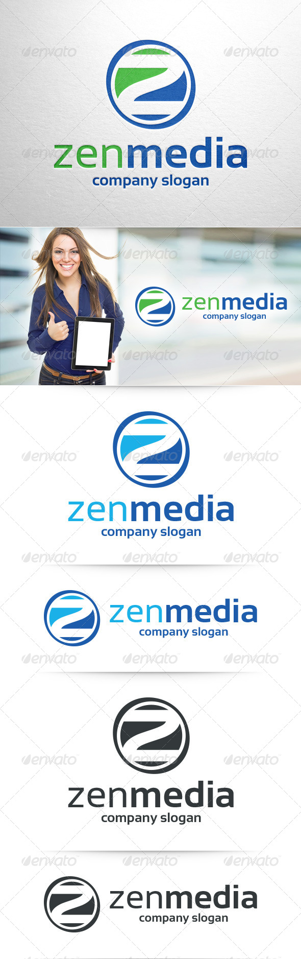GraphicRiver Zen Media Letter Z Logo 8405295