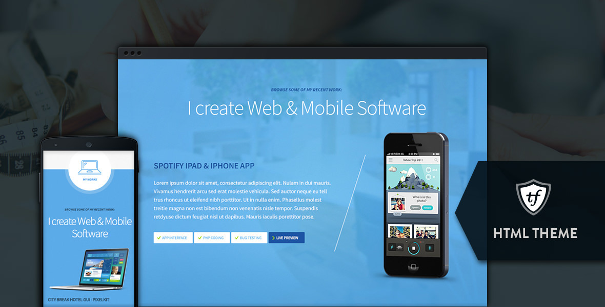 Freelancer - One Page HTML Template