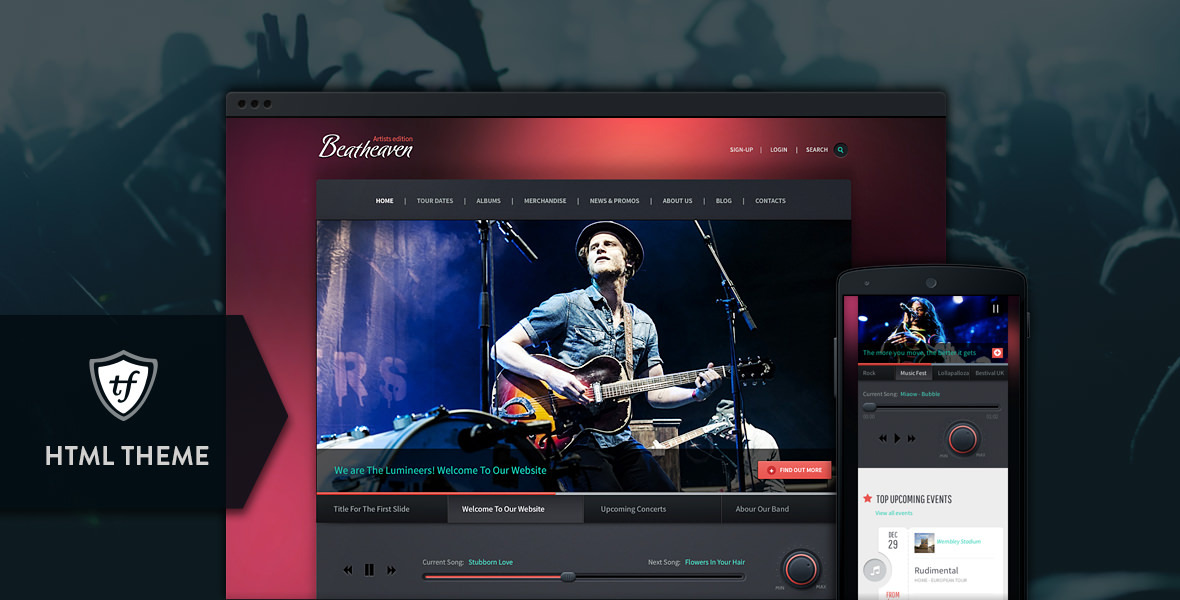 Beatheaven - Music HTML Theme