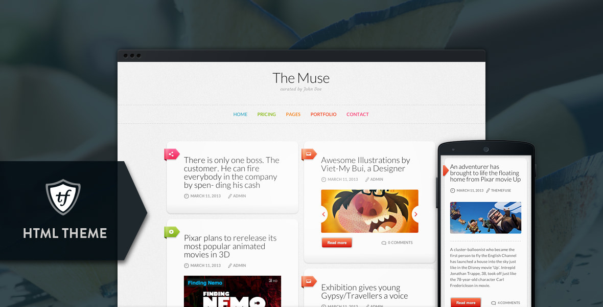 The Muse - Inspiration HTML Theme