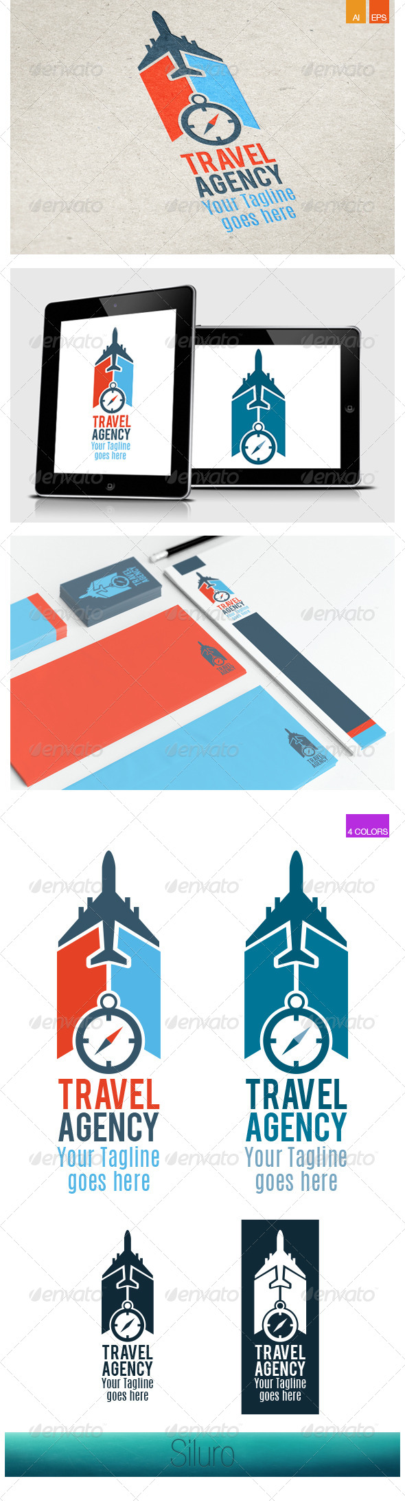 GraphicRiver Travel Agency V1 Logo 8405327