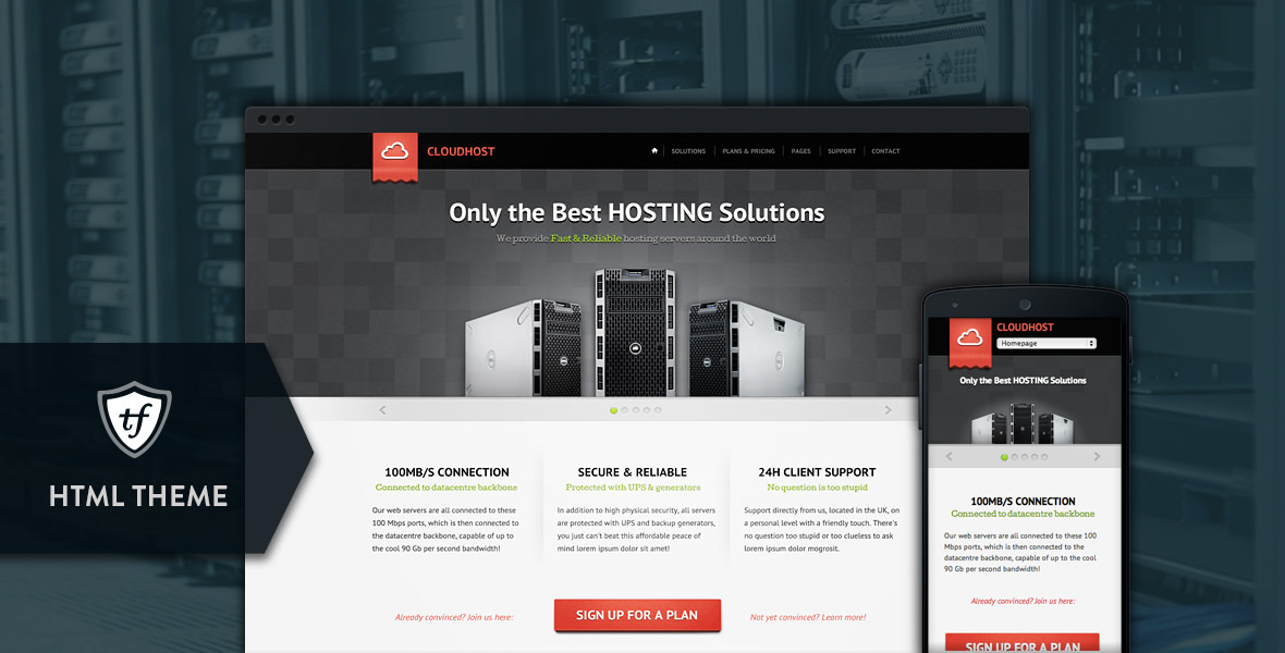 CloudHost - Hosting & Internet Business HTML Theme