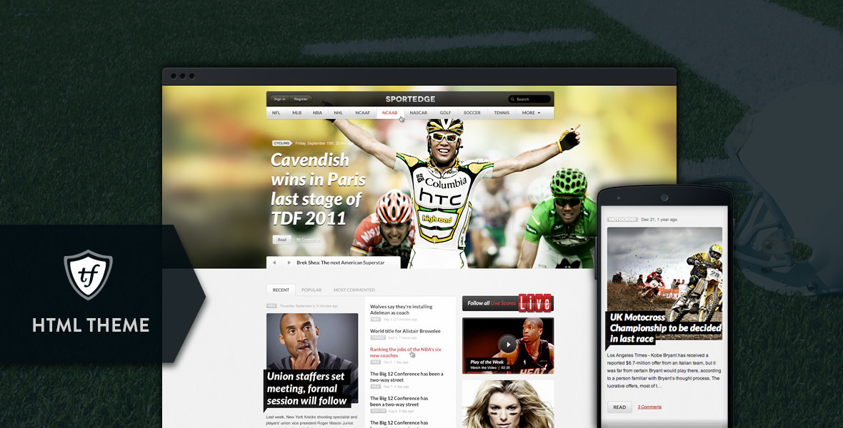 SportEdge - Football, Soccer & Sport HTML Theme