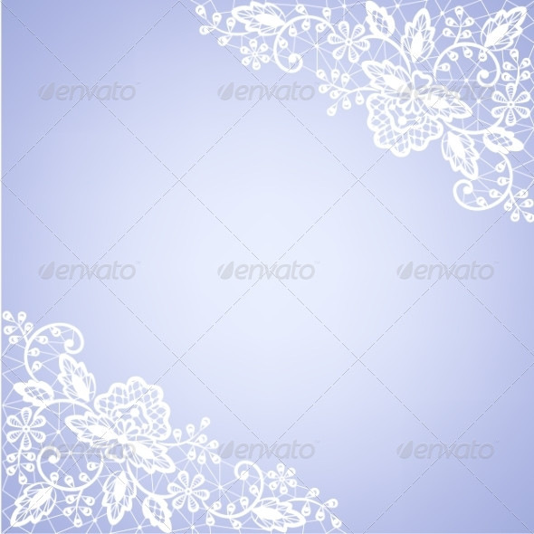 GraphicRiver Lace Fabric White Frame 8405452