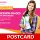 Junior School Education Postcard Template - GraphicRiver Item for Sale