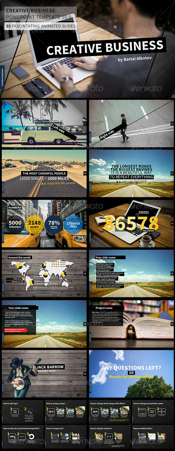 GraphicRiver Creative Business Power Point Presentation 8329283