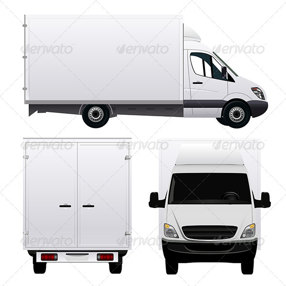 GraphicRiver Cargo Van 8405531