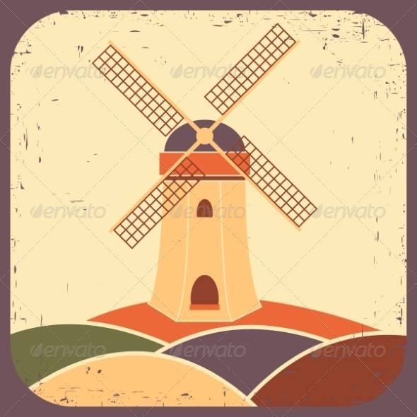 GraphicRiver Mill Vector Illustration 8405608