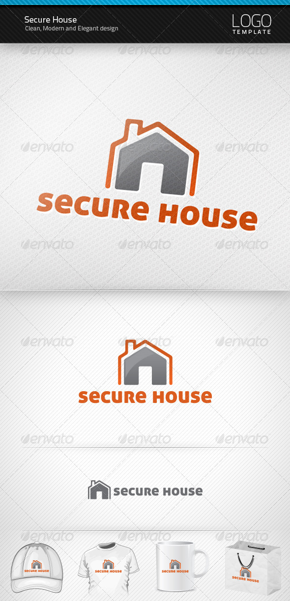 Secure House Logo - Objects Logo Templates