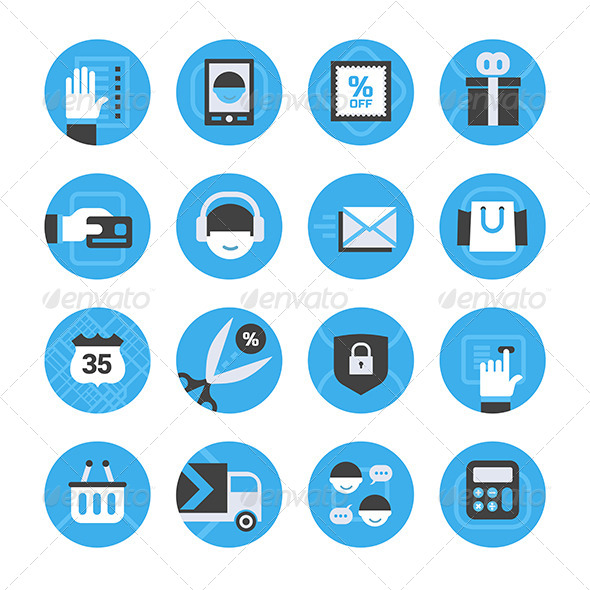 GraphicRiver E-commerce and Online Shopping Icons Set 8405635