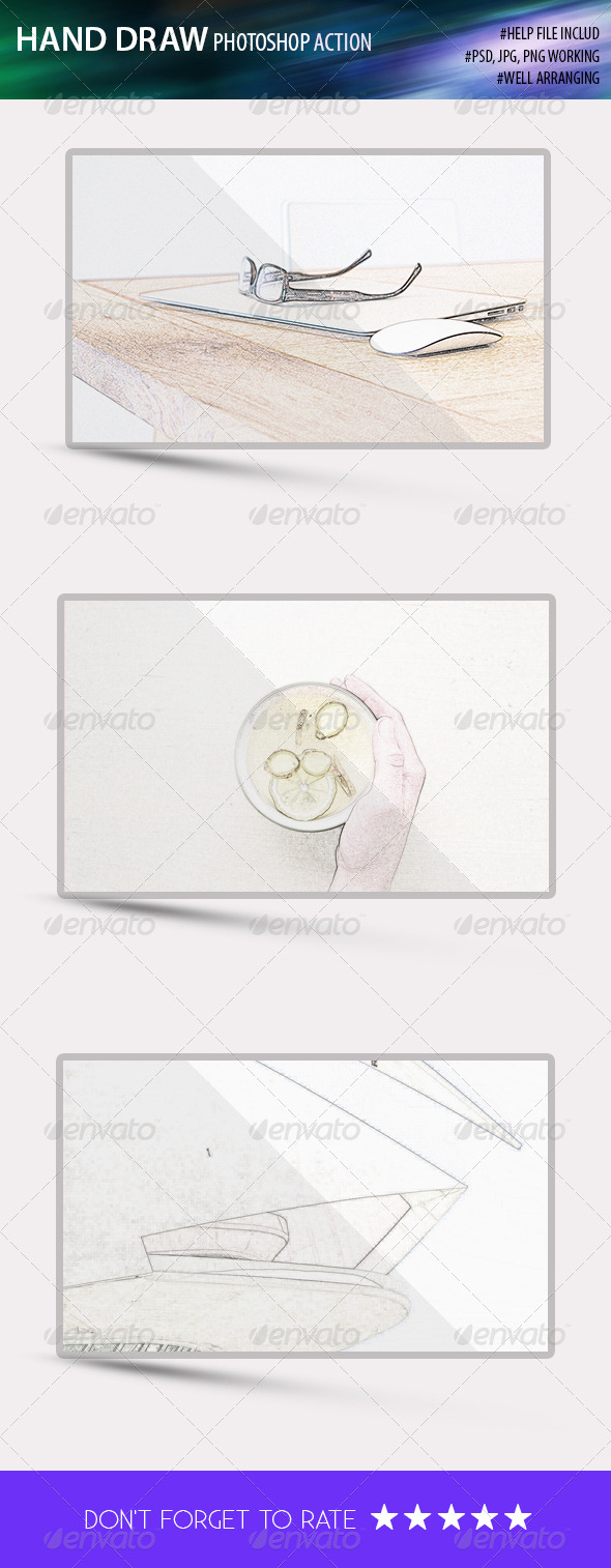 GraphicRiver Hand Drow Photoshop Action 8405654