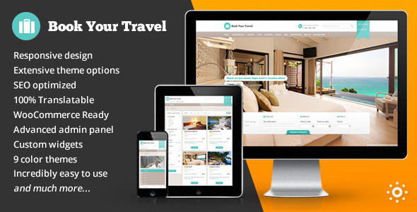 Book Your Travel - Online Booking WordPress Theme - Travel Retail