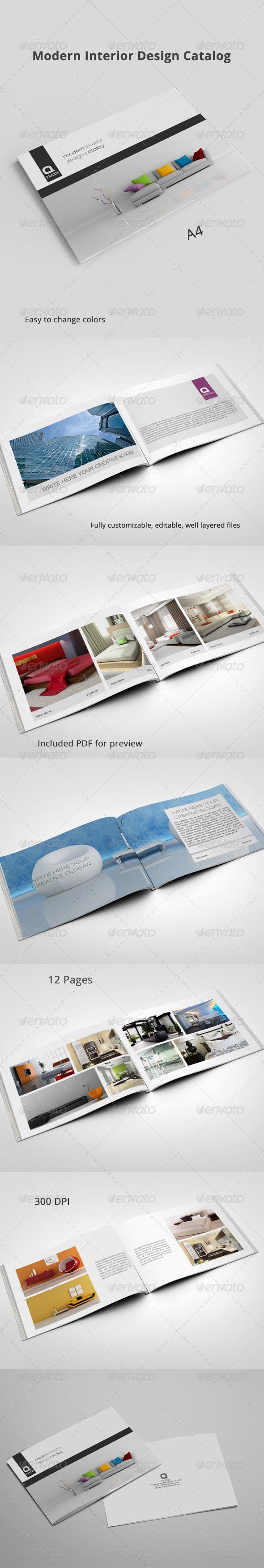 GraphicRiver Modern Interior Design Catalog 8405766