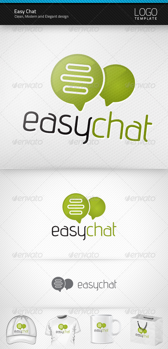 Graphic River Easy Chat Logo Logo Templates -  Symbols 807740