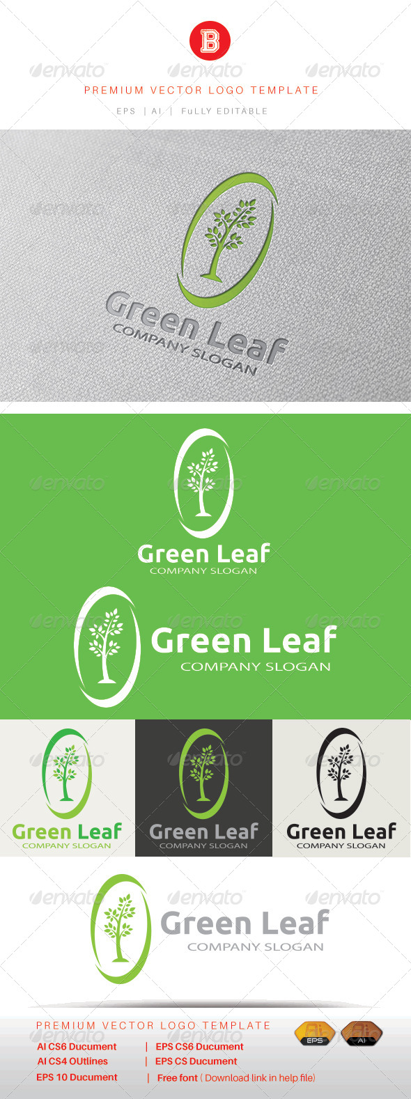GraphicRiver Green Leaf 8405812