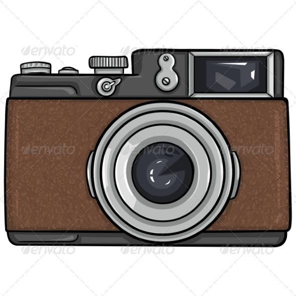 Vector Single Cartoon Photo Camera
