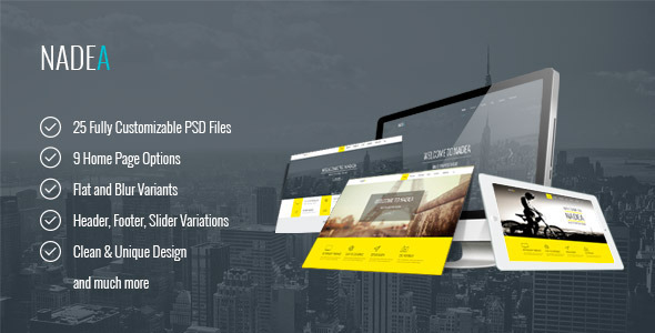 Nadea – Multipurpose PSD Template - Corporate PSD Templates