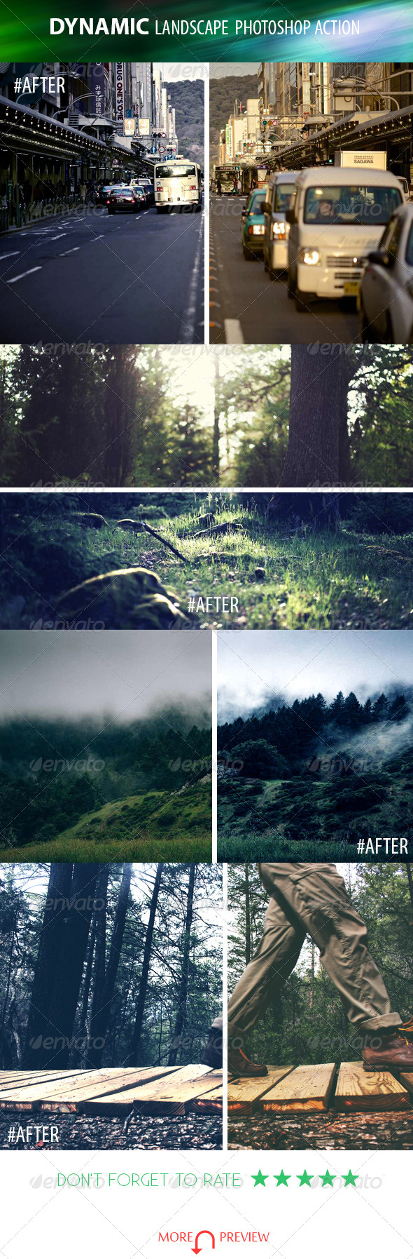 GraphicRiver Dynamic Landscape Photoshop Action 8406023