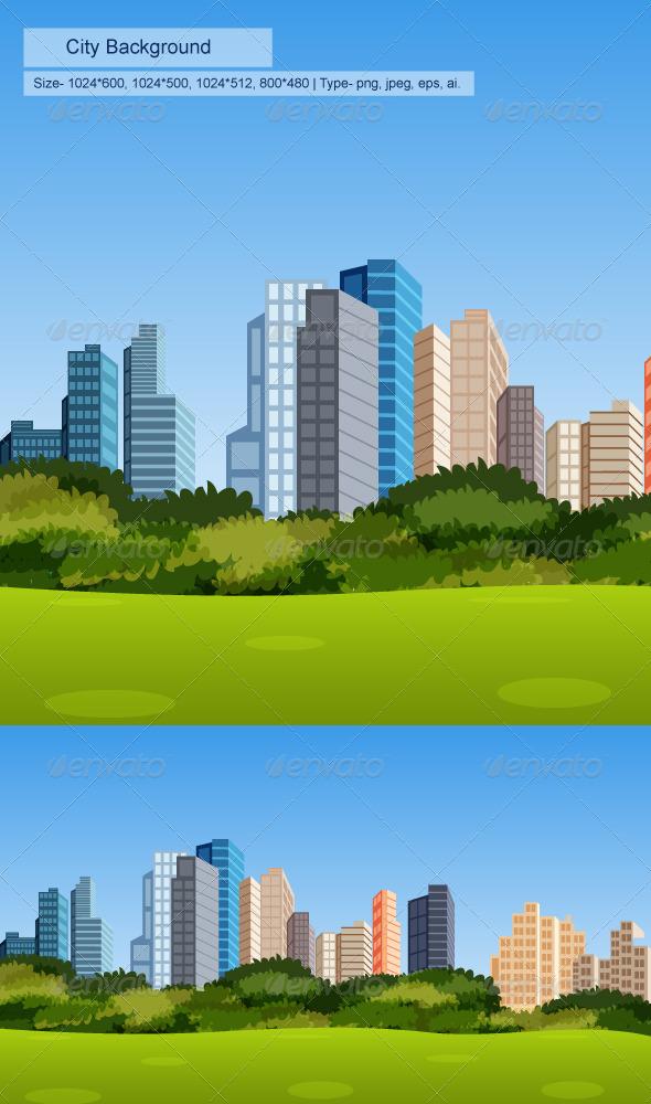 GraphicRiver City Background 8405336