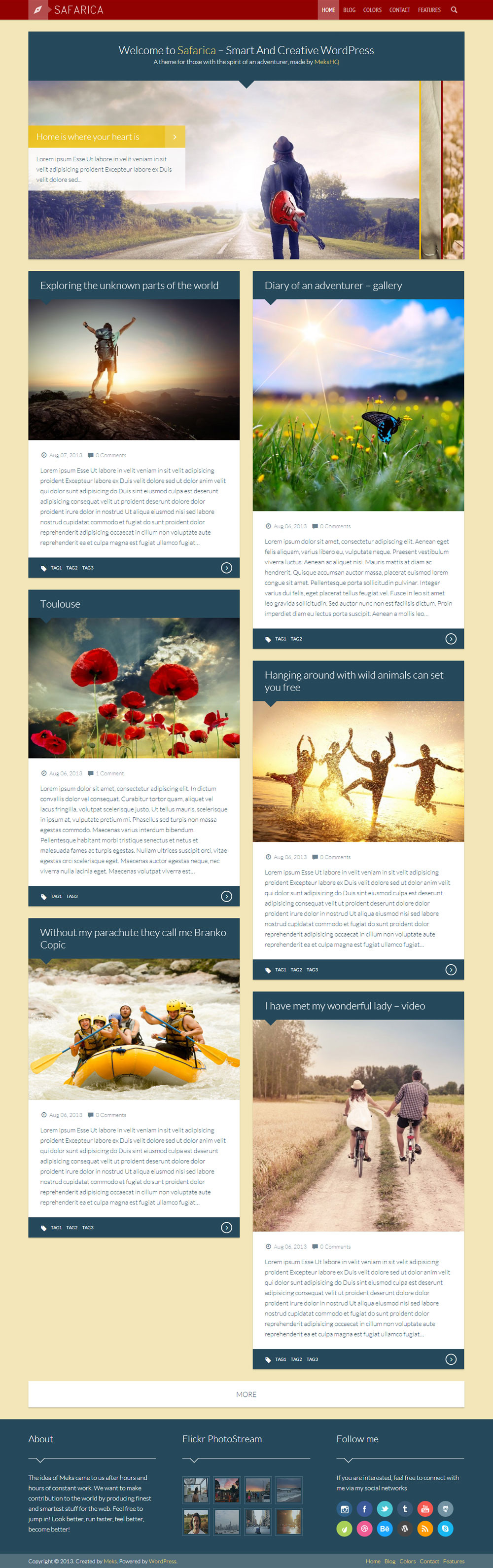 Safarica - Smart And Creative WordPress Blog Theme