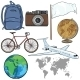 Set of Travel Cartoon Objects and Signs - GraphicRiver Item for Sale