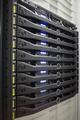 Rack of servers in data center