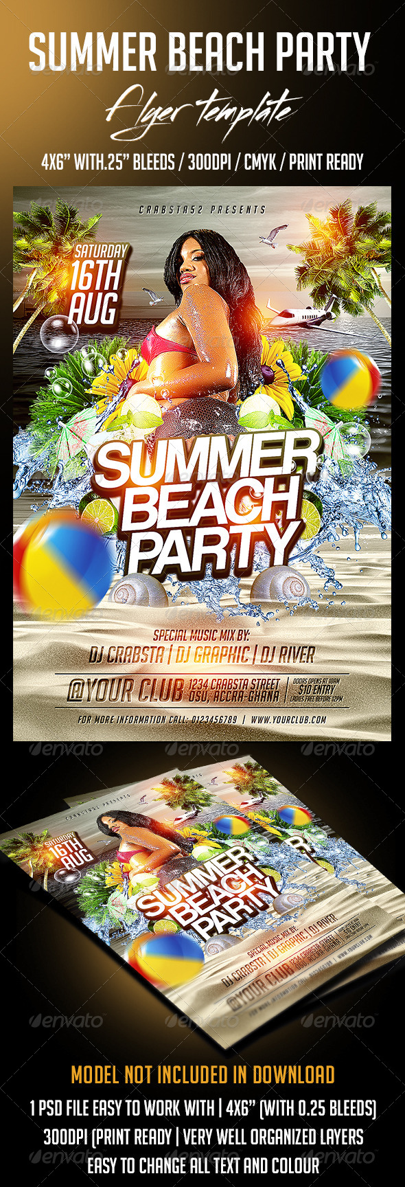 GraphicRiver Summer Beach Party Flyer Template 8391883