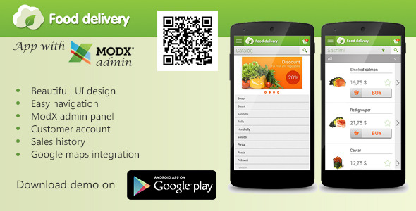 CodeCanyon Food Delivery App with MODx CMS 8284417