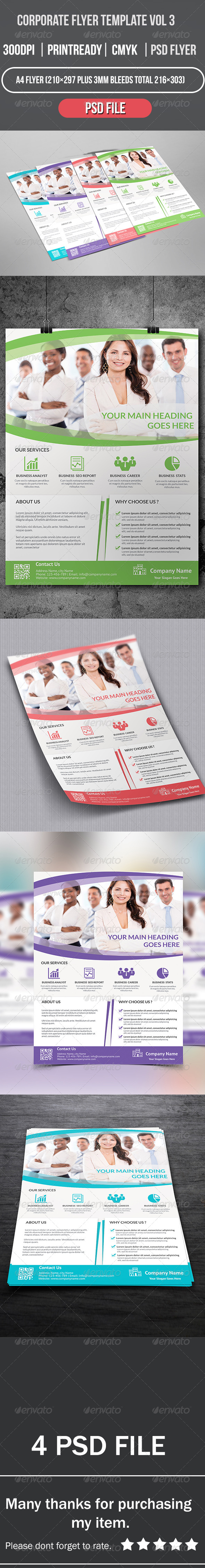 GraphicRiver Corporate Flyer Template Vol 3 8406190