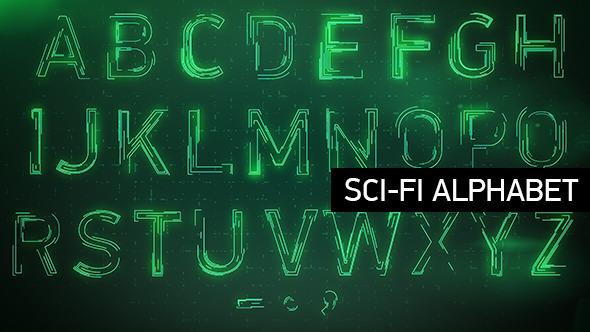 Animated Sci-fi Alphabet