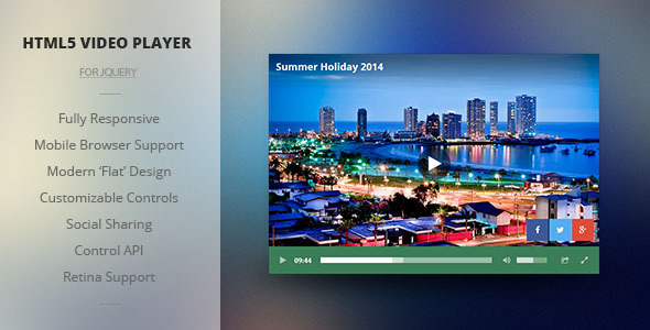 CodeCanyon Modern HTML5 Responsive Video Player 8406321