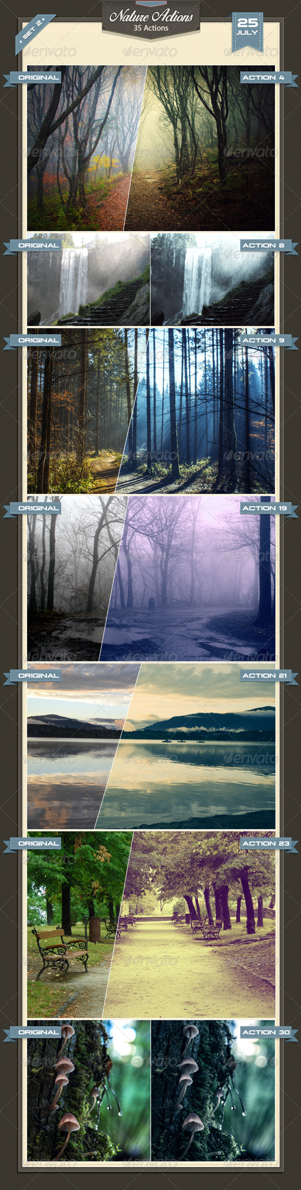 GraphicRiver Nature Photoshop Actions Set 2 8406343