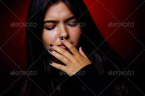 Stock Photo - PhotoDune Crying girl 854356