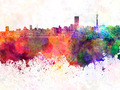 Johannesburg skyline in watercolor background - PhotoDune Item for Sale
