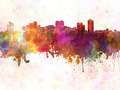 Manila skyline in watercolor background - PhotoDune Item for Sale