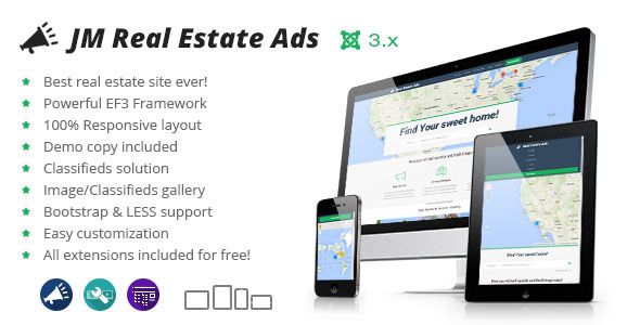 ThemeForest Real Estate Classifieds universal listing theme 8406448