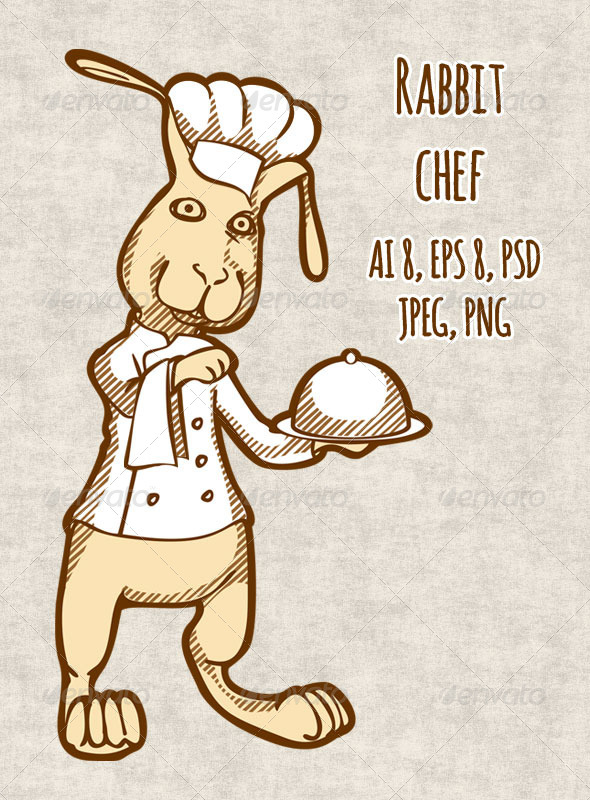 GraphicRiver Rabbit Chef 8406482