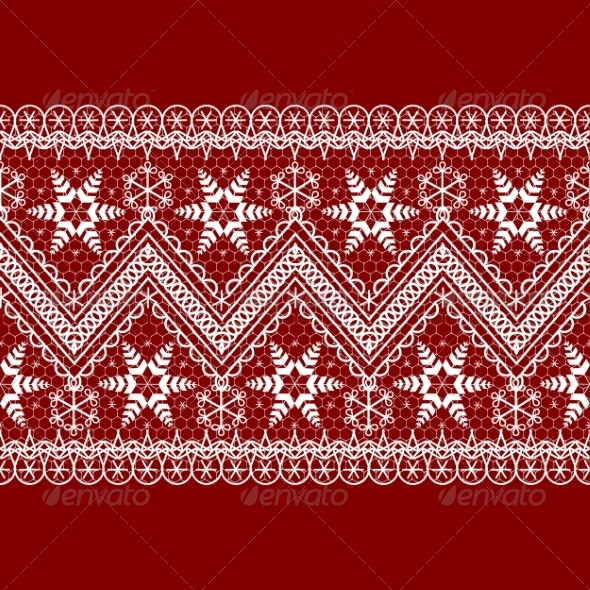 GraphicRiver Red Background with White Pattern 8406495