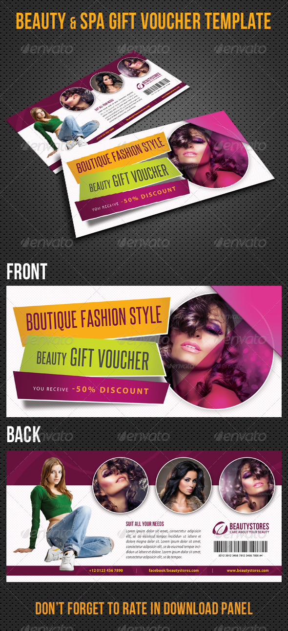 GraphicRiver Beauty Fashion Gift Voucher V21 8406616